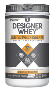 whey isolate, native whey, designer protein, protein powder and designer whey