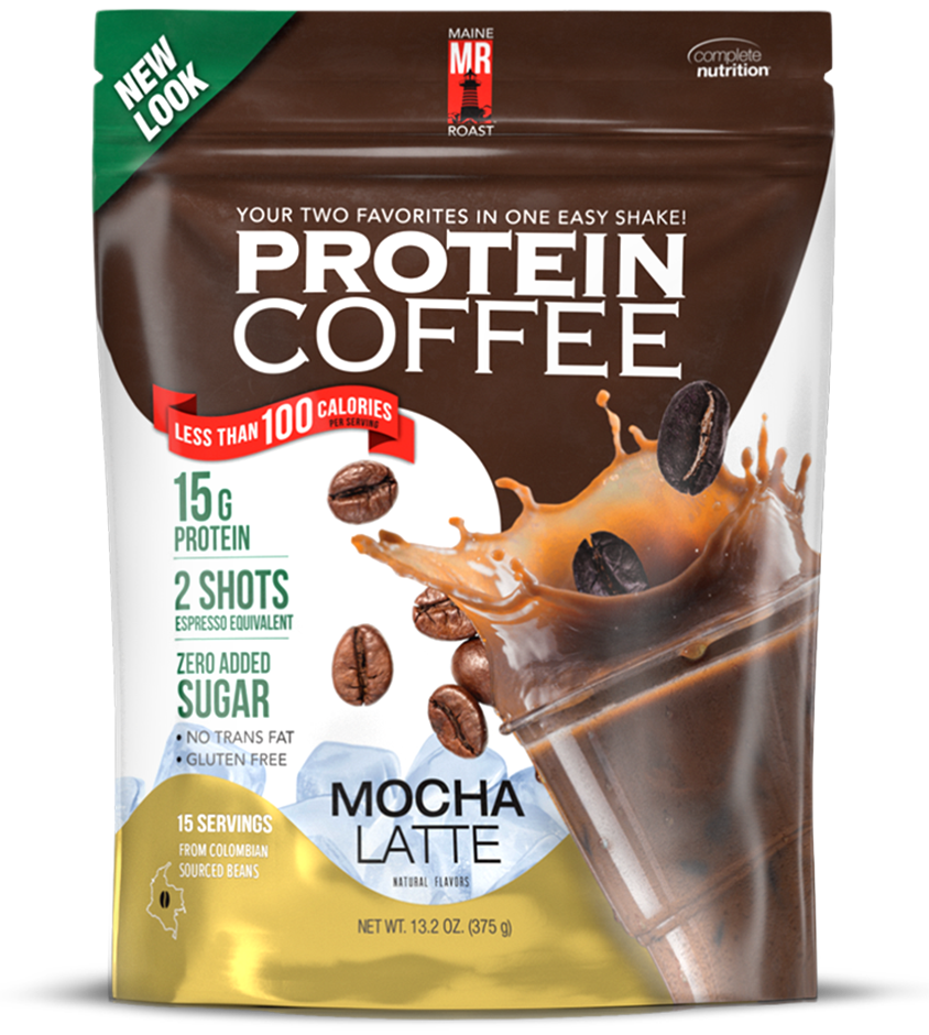 Low Calorie, Low Sugar, Boost of Energy with a cold easy to scoop and mix Complete Nutrition Protein Coffee with three amazing flavors!