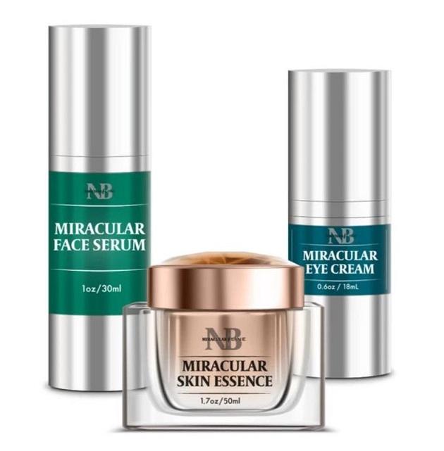 Miracular Face Serum Miracular Eye Cream and Miracular Skin Essence